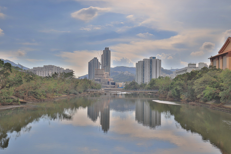 Sha Tin District at East New Territories Stock Photo