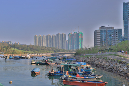 the Tseung Kwan O Water front day time
