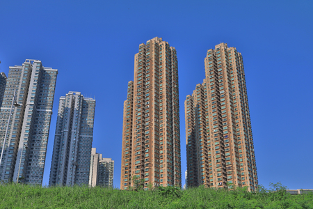 the Real estate modern condominium Stock Photo
