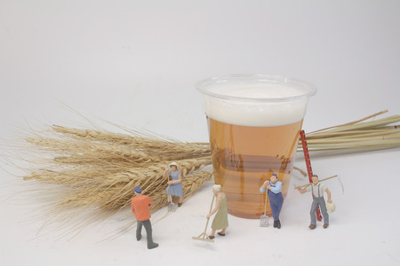 the group of worker with the beer Stok Fotoğraf