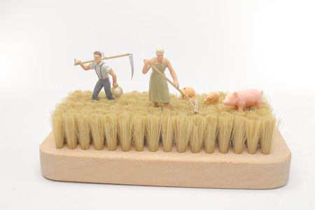 the fun of mini figure of farmer work