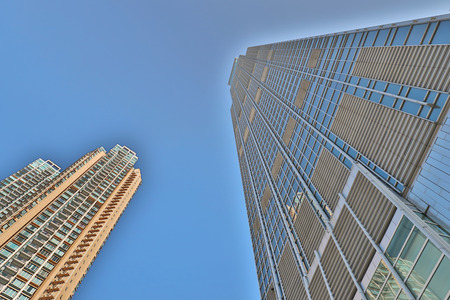 a modern office skyscraper on sky , Tsuen Wan
