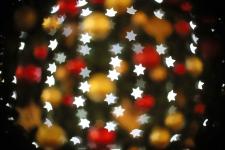 Abstract bokeh background. Christmas Glittering background.