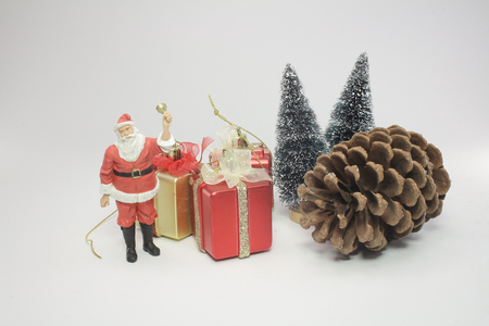 Santa Clause model figure, solated on white Stock Photo