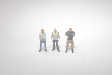 the mini figure of strong men on board