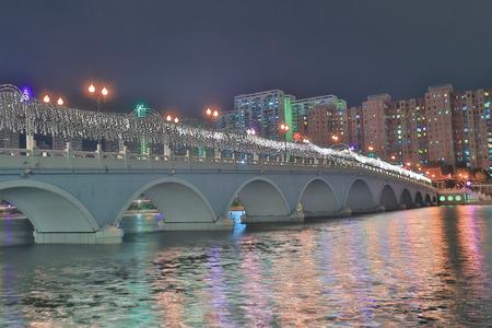 bridge with lighting