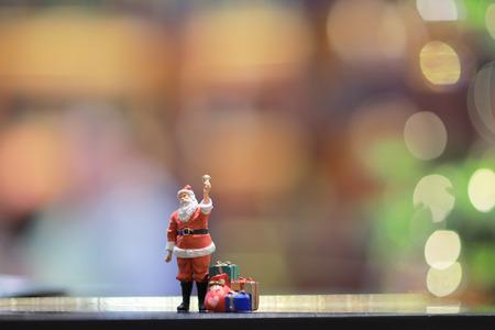 a Christmas figures of Santa Claus