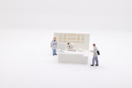 the  businessman figure at office 版權商用圖片