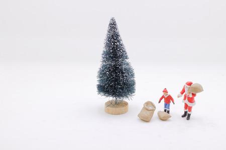 the Christmas holiday with Santa and decorations. 版權商用圖片