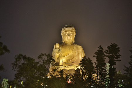 light of the Giant Buddha statue hk