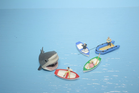 the fun of figure of  shark Foto de archivo