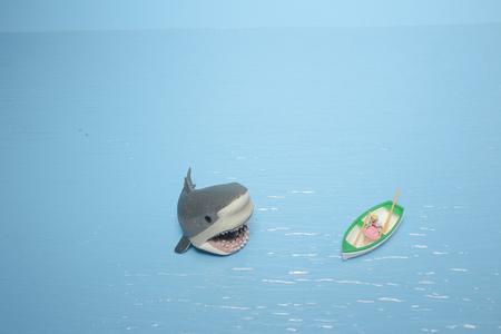 the fun of figure of   shark 版權商用圖片