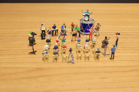 the tiny of Figures music band on show