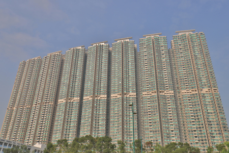 the apartment building in HK.