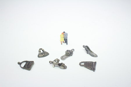 the mini people Couple Lover standing on