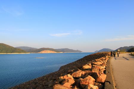 the landscape of hk MacLehose Trail Фото со стока