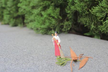 figurine of Miko  in  Shrine japan