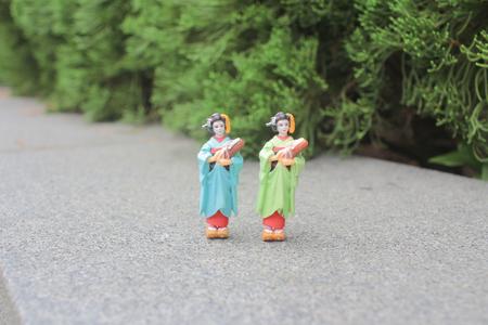 Japanese geisha figurines