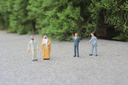 figurine of foreigner on the meeting