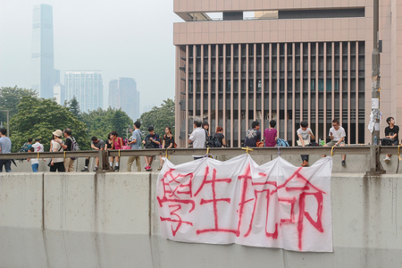Hong Kong, 29 Sept, 2014:  the umbrella revolution at hong kong. 新聞圖片