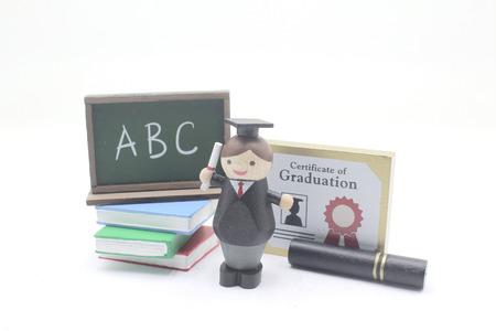 a theme of mini figure Graduation Concept