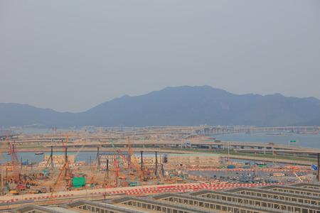 Hong Kong, 11 may 2019: Hzmb Hong Kong Port scenery Editorial