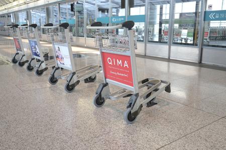 Hong Kong, 11 may 2019:  baggage carts for tourists at airport. Фото со стока - 122445038