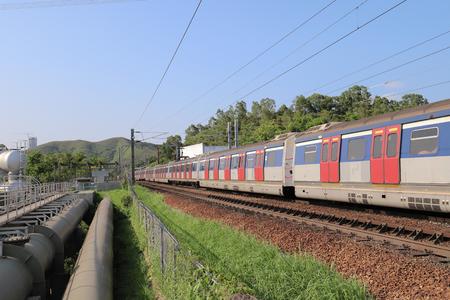 Hong Kong, 12 may 2019:  the railway at Sheung Shu Zdjęcie Seryjne - 122445051