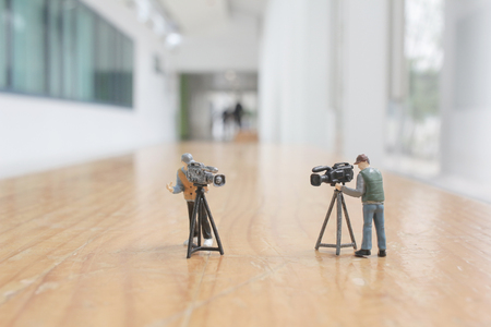 the mini figure of video production at studio