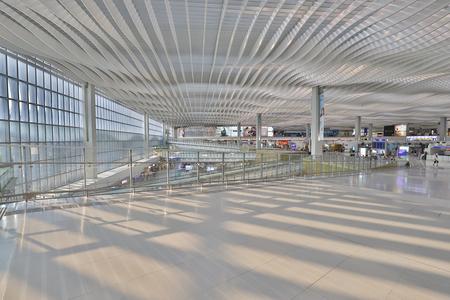Hong kong,11 may 2019: Terminal 2 hk airport interior.