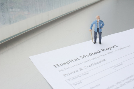 health report with the mini figure
