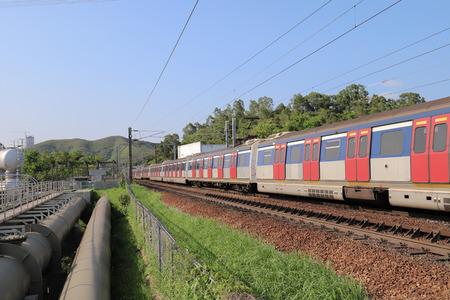 Hong kong,11 may 2019: the railway at Sheung Shu. Publikacyjne