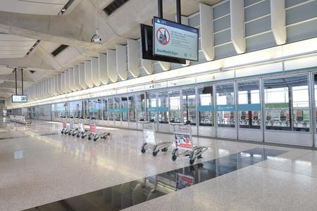 Hong kong,11 may 2019:hk aiport express station. Editorial