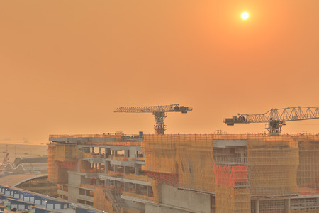 Hong kong,11 may 2019: Hong Kong International Airport under construction.