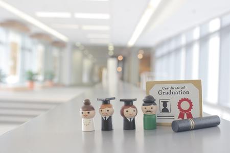 graduation concept with students, college graduate. Students graduation university or school