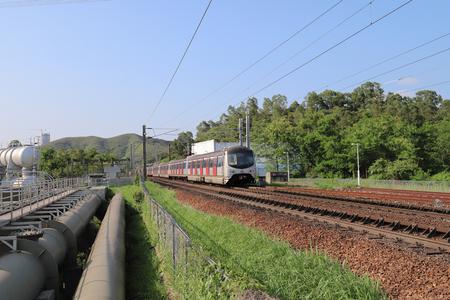 Hong kong,12 may 2019: the railway at Sheung Shu Editorial