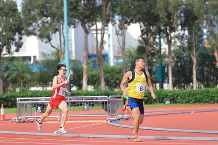 athlete in running competition