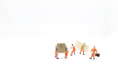 the mini of figure Delivery Men Carrying furniture