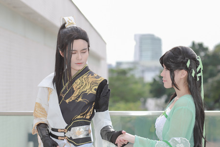 dressed up cosplay at 26 may 2019 on Japan 新聞圖片