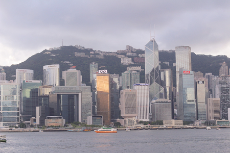 a City scape of modern in Hong Kong.