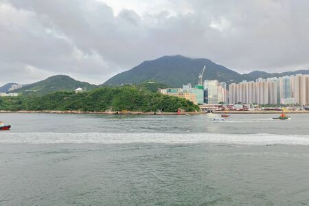 Lei Yue Mun channel scenery 版權商用圖片 - 125949476