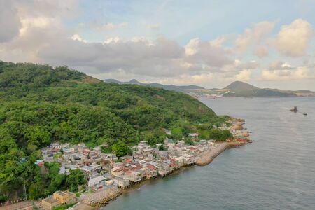 scenery of Ma Wan Village in hk