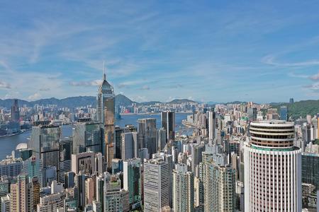 hong kong,1 July 2019: wan chai building scenery at Hong Kong.