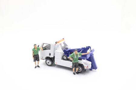 Figurine of  Worker of a car repair 版權商用圖片