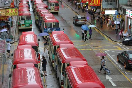 view scene of Public mini bus stop station