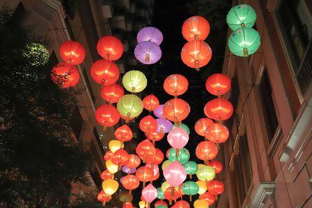 red lantern at Lee Tung Avenue, wan chai 写真素材