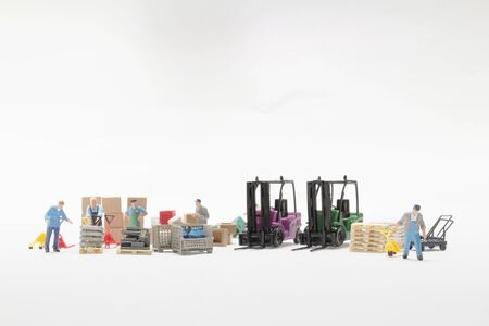 The Figure Worker Toy Cement Mixing Manually