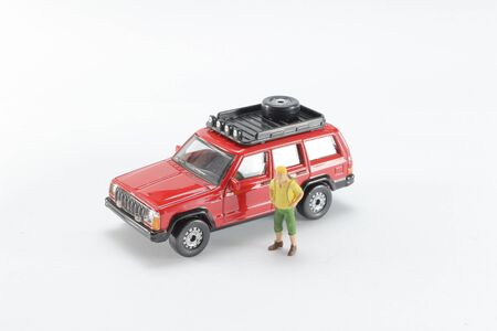 Travelling of concepts. Traveler miniature mini figures 写真素材