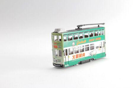 a scale figure of double tram hong kong