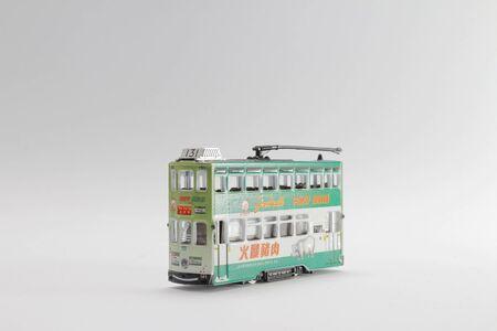 a scale figure of double tram hong kong  Stock fotó